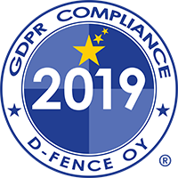 GDPR Compliance 2019 D-Fence Oy